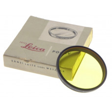 LEICA POOBV LEITZ MINT BOX YELLOW FILTER FOR SUMMICRON 2/90 TELYt 4.5/200 BLACK