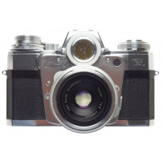 ZEISS CONTAREX Bullseye SLR 35mm chrome film camera Tessar 1:2.8/50mm lens cased
