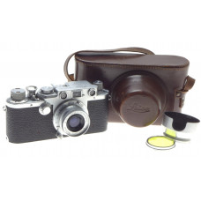 JUST SERVICED LEICA IIIf CAMERA COMPACT SUMMARON 3.5f=35mm COATED LENS 3.5/35mm