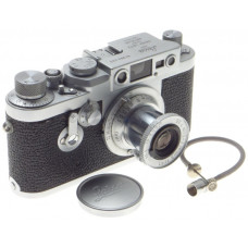 BEAUTIFUL LEICA IIIg 3G CAMERA LEITZ CHROME PRIME ELMAR 1:3.5/5cm LENS f=50 CAP
