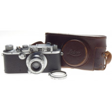 EXCELLENT WORKING LEICA IIIa RANGEFINDER 35mm FILM CAMERA LEITZ ELMAR 1:3.5/50mm