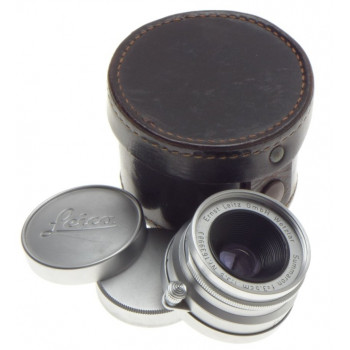 1:3.5/35mm M39 LEICA SUMMARON f=3.5cm SCREW MOUNT COMPACT CAMERA LENS CAPS CASED