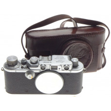 JUST SERVICED LEICA IIIA RANGEFINDER CHROME 35mm CLASSIC CAMERA BODY CASED CLA'd