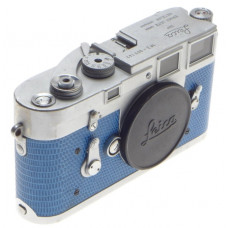 JUST SERVICED BLUE LIZARD SKIN LEICA M3 VINTAGE 35mm LEITZ FILM CAMERA CLASSIC