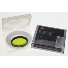 13062 LEICA Yellow camera lens filter E 39 Black boxed MINT E39 Summicron 50mm