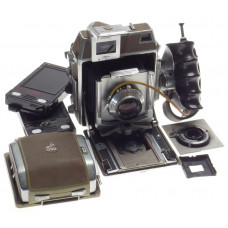 Linhof Super Technika IV 6x9 set 2x lenses Zeiss opton 1:3.5/105 Tessar 6.8/65mm