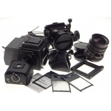 HASSELBLAD Flex body camera 500C/M Zeiss Distagon 4/50mm Sinar Emotion back kit