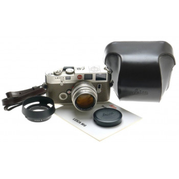 75 LEICA M6 LIMITED MINT PLATINUM SUMMILUX 1.4/50mm LENS RARE SNAKE SKIN # I 125