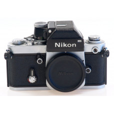 NIKON F2 SLR 35mm FILM CAMERA BODY CHROME BLACK WITH CAP DP-1 PRISM FINDER NICE