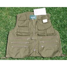 LARGE SLEEVELESS UTILITY JACKET HUNTING FISHING PHOTO
